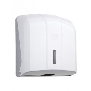 Диспенсер для листовых полотенец V-сложения (до 400 листов) пластик.