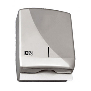 Диспенсер листовых полотенец Z, C и V-сложения ( до 600 листов) нержавеющая сталь