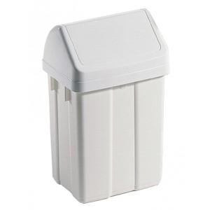 Бак для мусора с плавающей крышкой 50 литров. бежевый