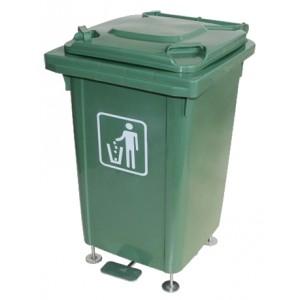 Бак для мусора на ножках с педалью, 60 литров